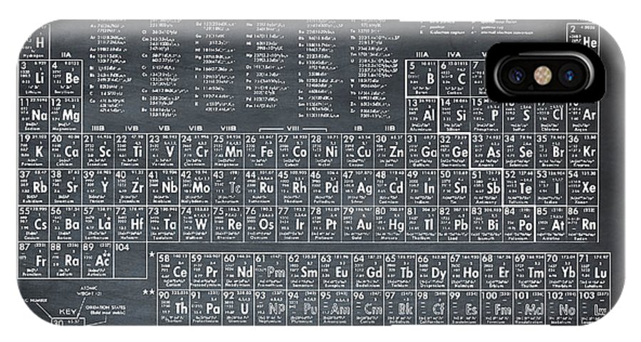 Periodic IPhone X Case featuring the photograph Periodic Table Of Elements In Black by Bill Cannon