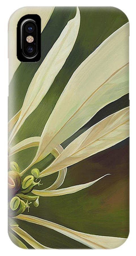 Botanical IPhone X Case featuring the painting Phenomenal World by Hunter Jay