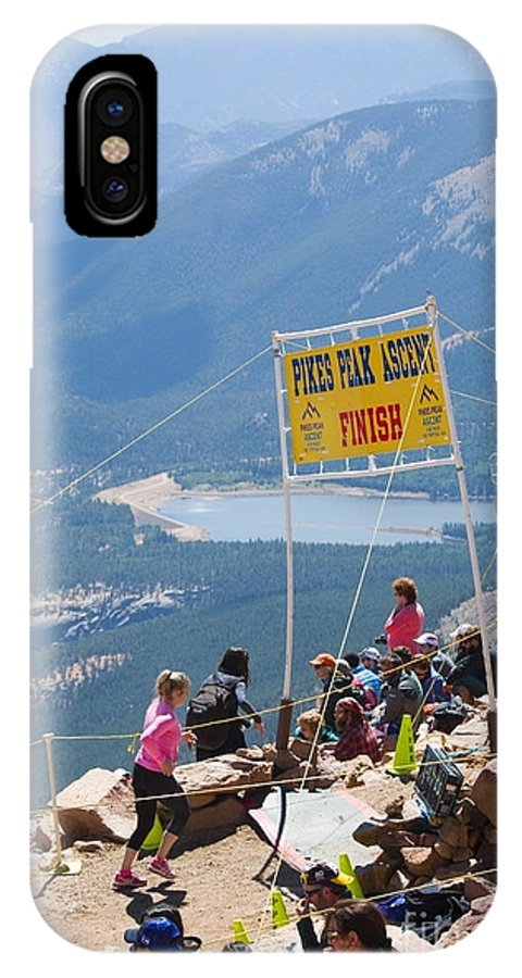 Pikes Peak Ascent IPhone X / XS Case featuring the photograph Pikes Peak Marathon And Ascent by Steve Krull
