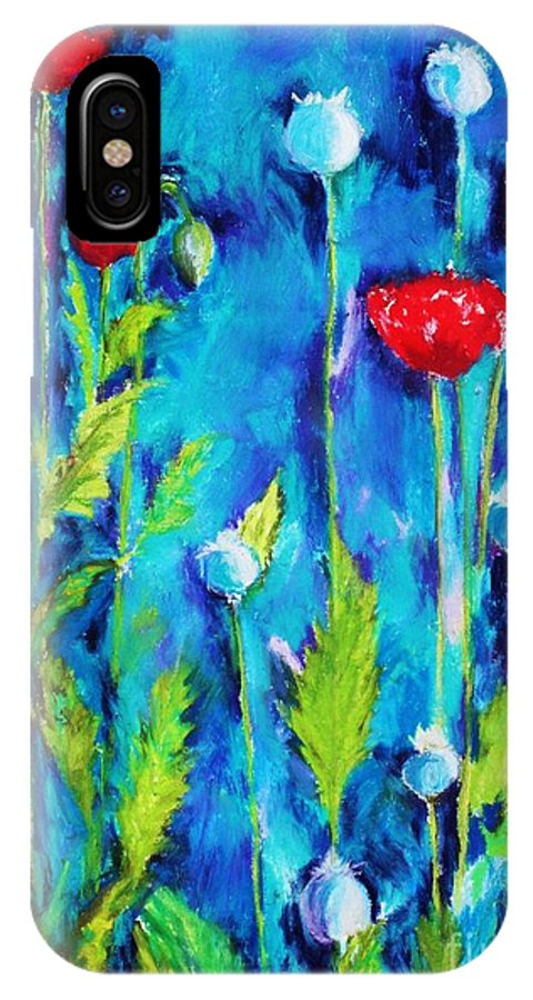Poppies IPhone X Case featuring the painting Poppies by Melinda Etzold