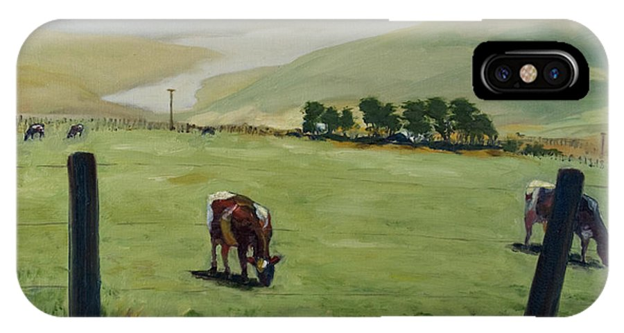 Landscape IPhone Case featuring the painting Pt. Reyes by Rick Nederlof