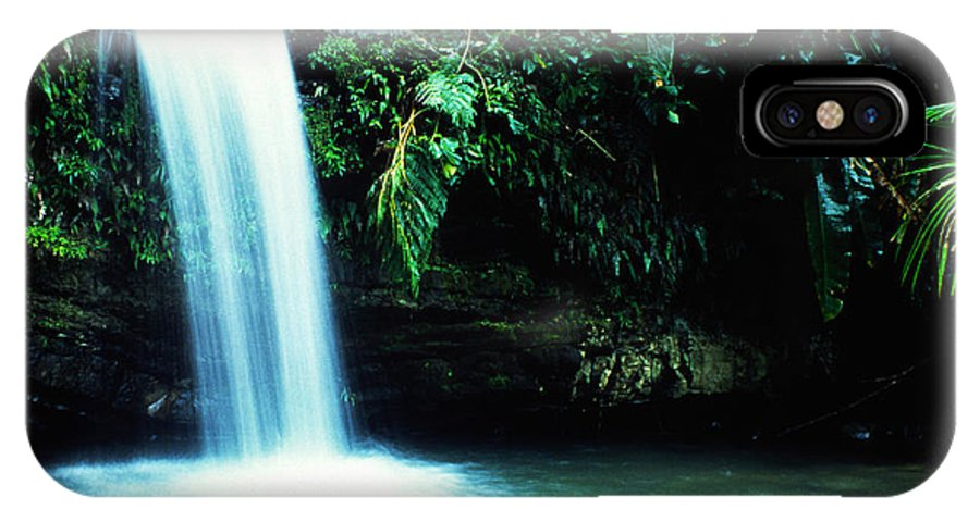 Puerto Rico IPhone X Case featuring the photograph Quebrada Juan Diego Waterfall by Thomas R Fletcher
