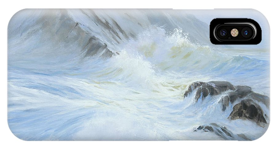 Seascape IPhone X Case featuring the painting Quiet Moment II by Glenn Secrest