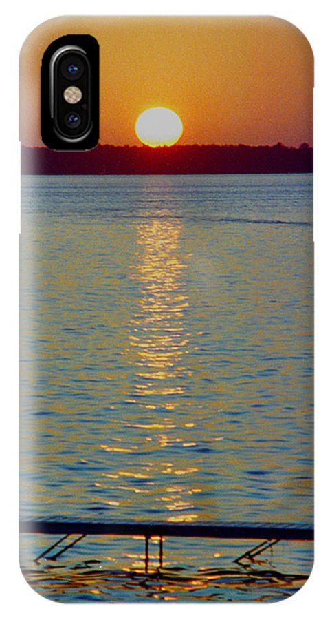 Sunset IPhone Case featuring the photograph Quite Pier Sunset by Randy Oberg