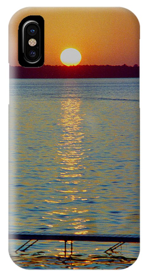Sunset IPhone X Case featuring the photograph Quite Pier Sunset by Randy Oberg
