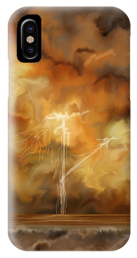 Anne Norskog IPhone Case featuring the painting Raw Power by Anne Norskog