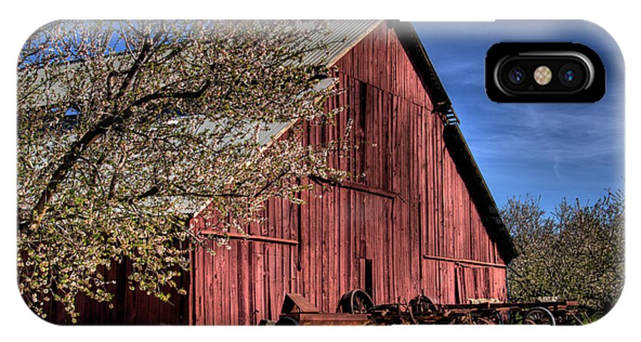 Barn IPhone X Case featuring the photograph Red Barn by Jim And Emily Bush