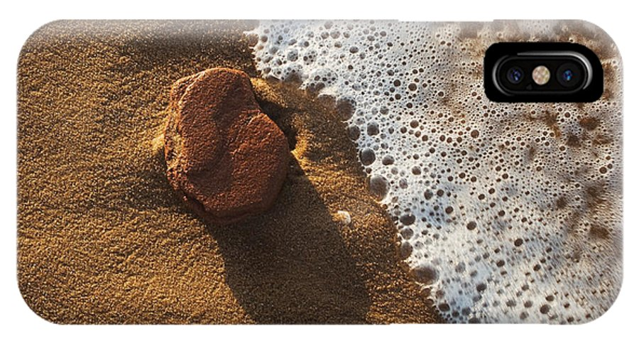 Red IPhone Case featuring the photograph Red Rock And Surf by Steve Somerville
