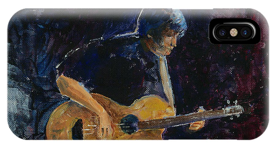 Guitar IPhone Case featuring the painting Rock N Roll by Arline Wagner