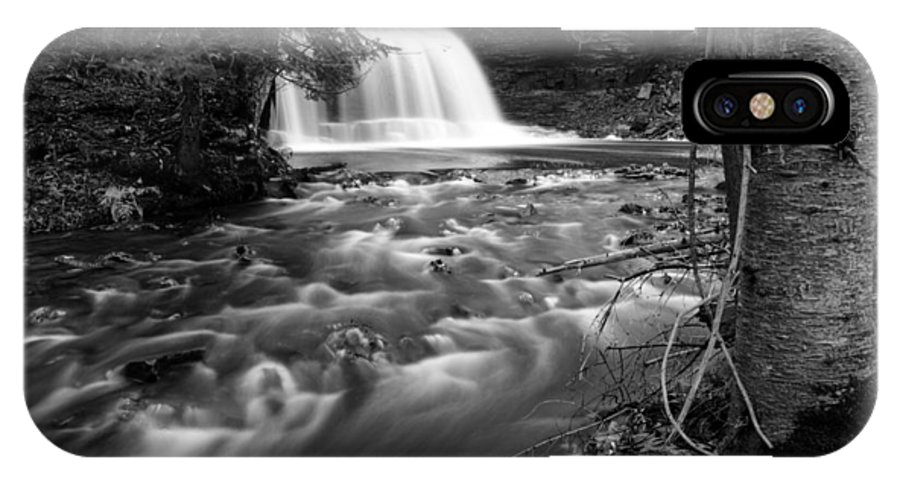 Water IPhone X Case featuring the photograph Rock River Falls by Amanda Kiplinger