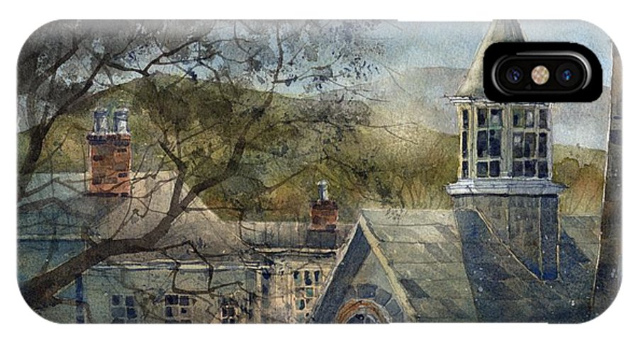 Old Edwards Inn And Spa IPhone X Case featuring the painting Rooftops Of Old Edwards by Tim Oliver