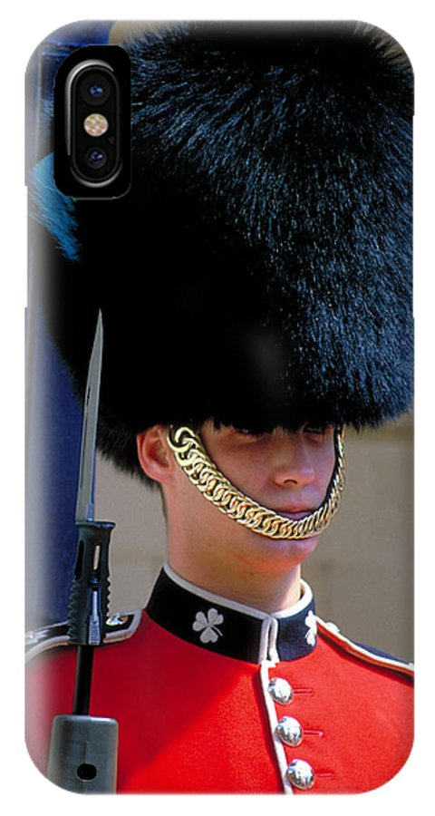 Fur Hat IPhone X Case featuring the photograph Royal Guard by Carl Purcell