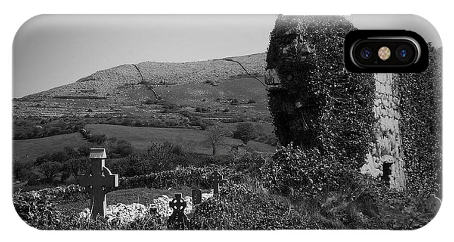 Irish IPhone X Case featuring the photograph Ruins In The Burren County Clare Ireland by Teresa Mucha