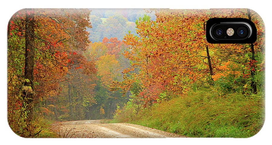 Fall IPhone X / XS Case featuring the photograph Rural Arkansas by Carolyn Wright
