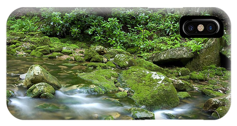 Rushing Mountain Stream IPhone X Case featuring the photograph Rushing Mountain Stream by Thomas R Fletcher