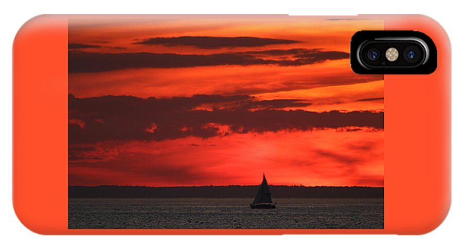 Sailing IPhone X Case featuring the photograph Sailboat Mount Sinai New York by Bob Savage