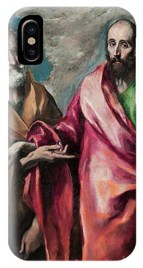 Apostle IPhone X Case featuring the painting Saint Peter And Saint Paul by El Greco