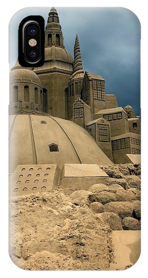 Sand IPhone X Case featuring the photograph Sand Castle by Sophie Vigneault
