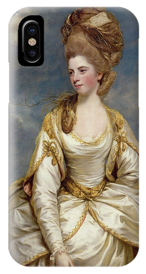 British IPhone X Case featuring the painting Sarah Campbell by Joshua Reynolds