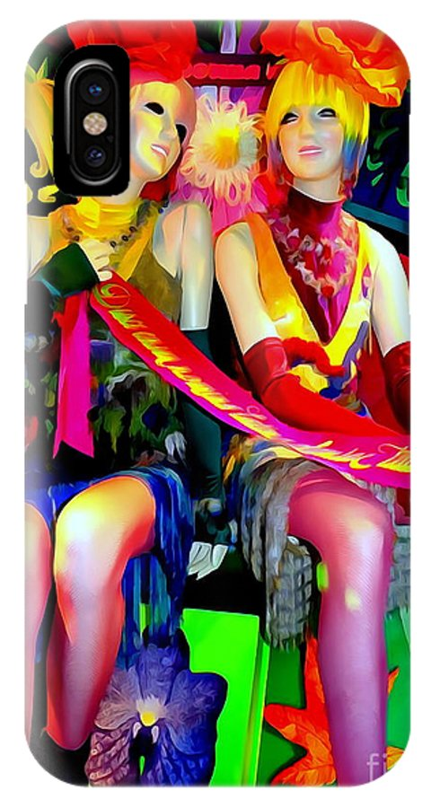 Mannequins IPhone X Case featuring the digital art Sassy Sisters by Ed Weidman