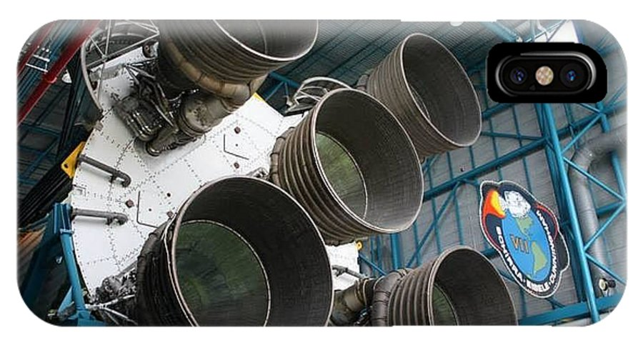 Saturn V Main Stage Rocket IPhone X Case featuring the photograph Saturn V Rocket by William Rogers