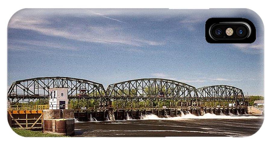 Schenectady Lock 8 IPhone X Case featuring the photograph Schenectady Lock 8 by George Fredericks