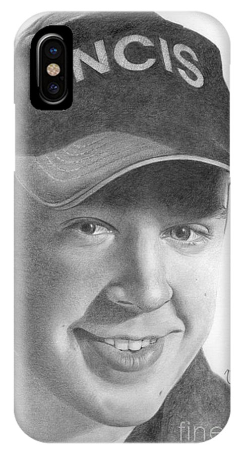 Sean Murray IPhone X Case featuring the drawing Sean Murray by Karen Townsend