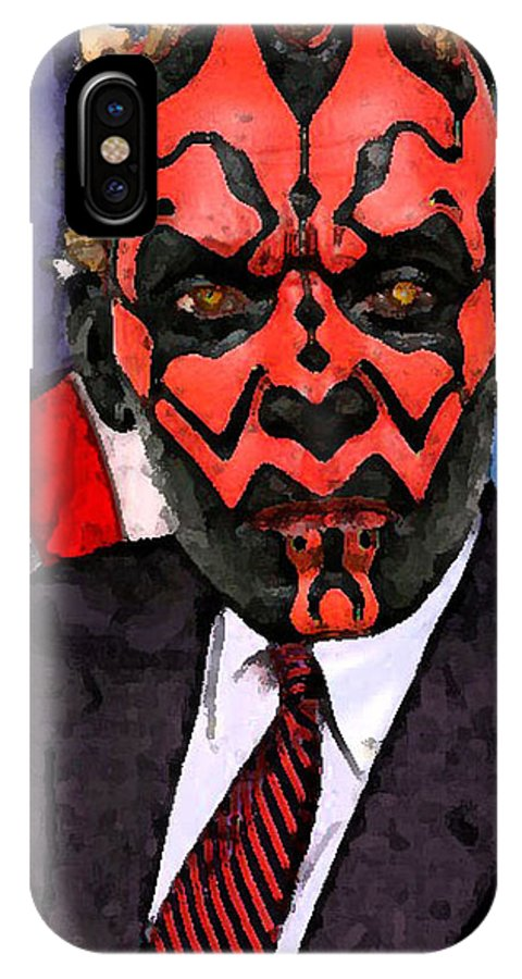Star Wars IPhone Case featuring the digital art Senator Darth Maul by Eric Forster