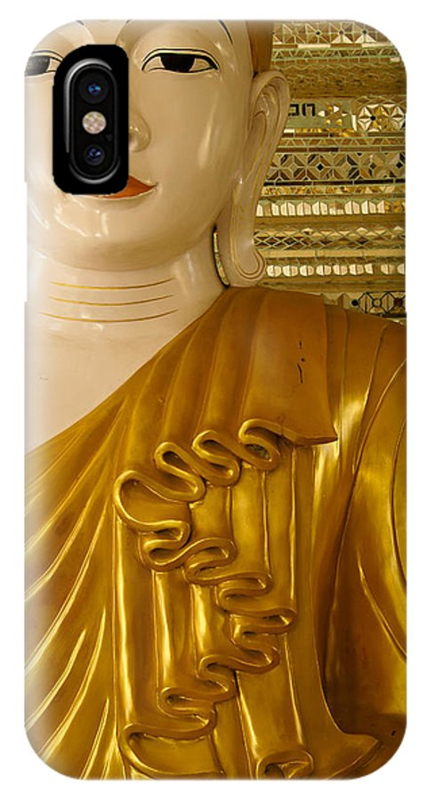 Buddha IPhone X Case featuring the photograph Serenity by Michele Burgess