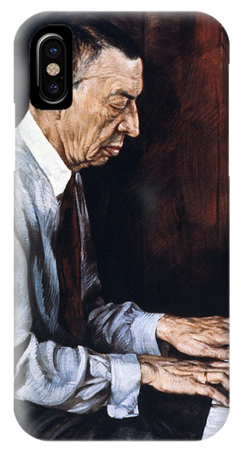19th Century IPhone X Case featuring the painting Sergei Rachmaninoff by Granger