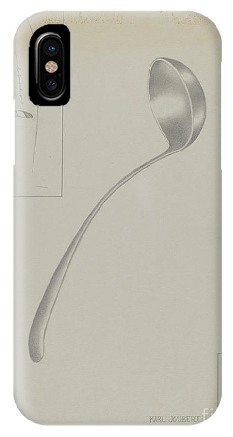 IPhone X Case featuring the drawing Silver Ladle by Karl Joubert