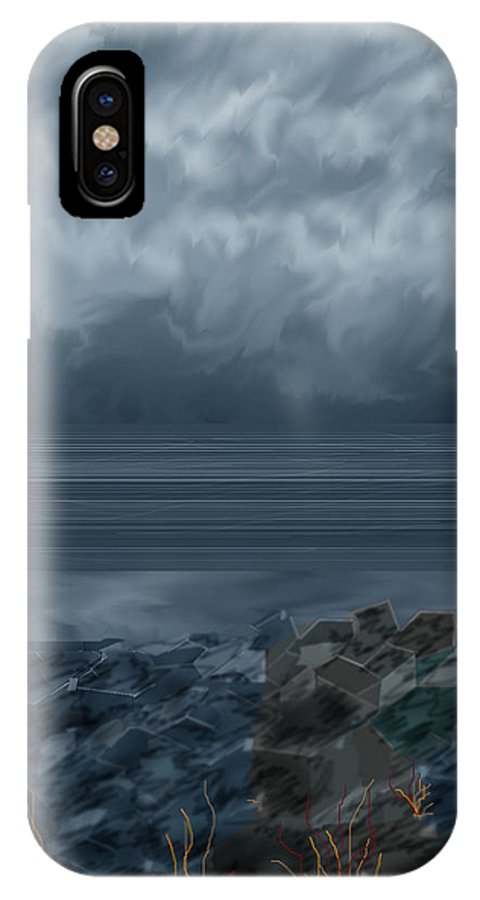 Seascape IPhone Case featuring the painting Slack Tide On The Jetty by Anne Norskog