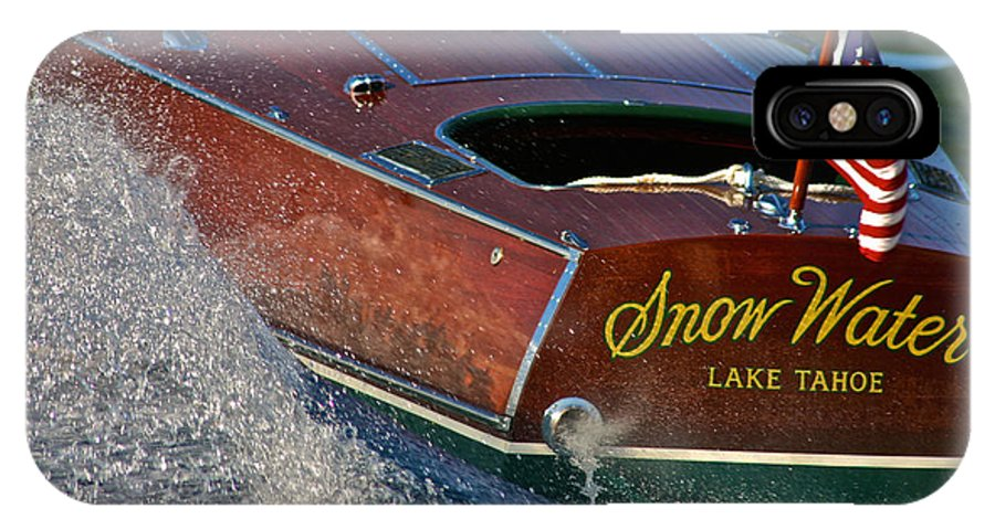 Runabout IPhone X Case featuring the photograph Snow Water by Steven Lapkin