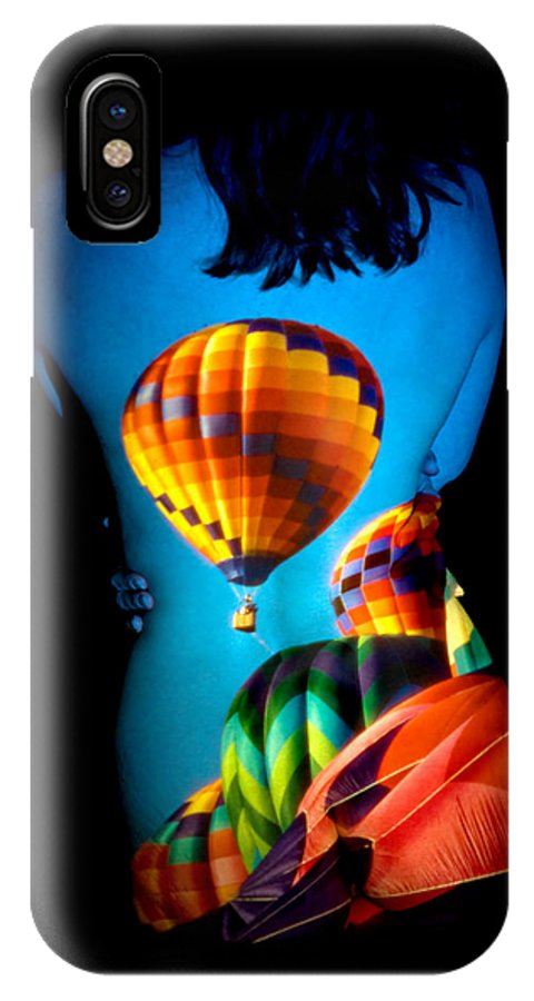 Hot Air Balloon IPhone X Case featuring the photograph Soarin Beauty by Greg Fortier