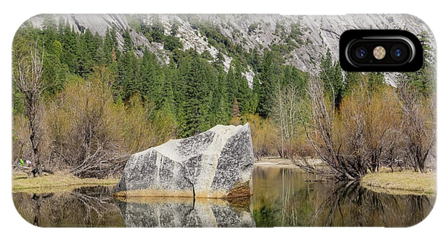 Mirror Lake IPhone X Case featuring the photograph Some Beautiful Scene Of The Famous Mirror Lake Of Yosemite by Chon Kit Leong