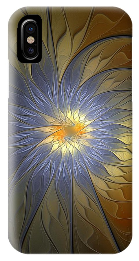 Digital Art IPhone X Case featuring the digital art Something Blue by Amanda Moore