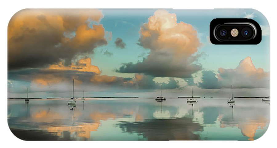 Aqua Waterscapes IPhone X Case featuring the photograph Sound Of Silence by Karen Wiles