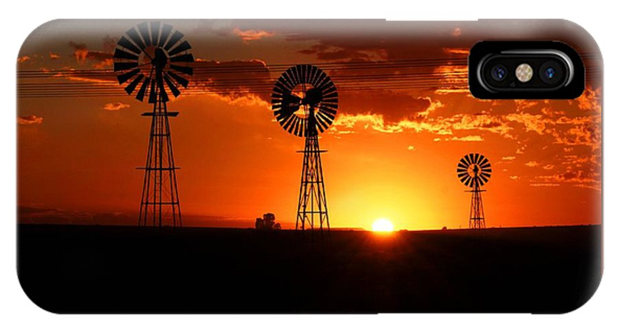 South Africa IPhone X / XS Case featuring the photograph South African Sunrise by Elton Oliver
