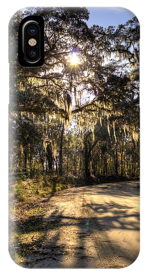 Live Oak IPhone X Case featuring the photograph Southern Oak Shadows by Dustin K Ryan