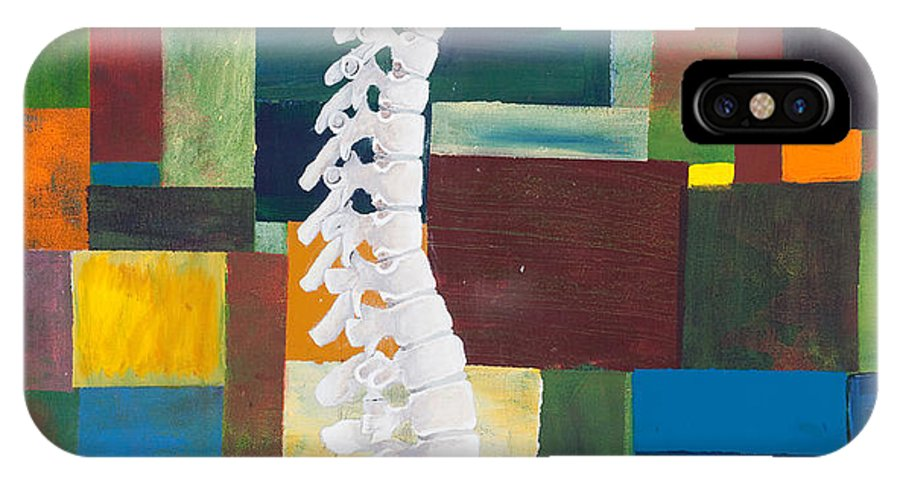 Chiropractic IPhone X Case featuring the painting Spine by Sara Young
