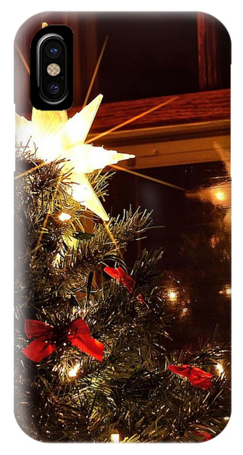 Christmas Card IPhone X Case featuring the photograph Spirit by Valerie Cartier