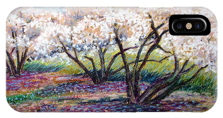 Oil Pastel IPhone Case featuring the painting Spring Has Sprung by Art Nomad Sandra Hansen