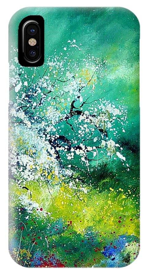 Flowers IPhone X Case featuring the painting Spring by Pol Ledent