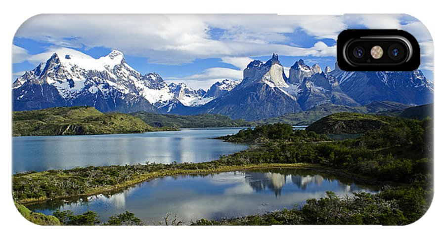 Patagonia IPhone X Case featuring the photograph Springtime In Patagonia by Michele Burgess