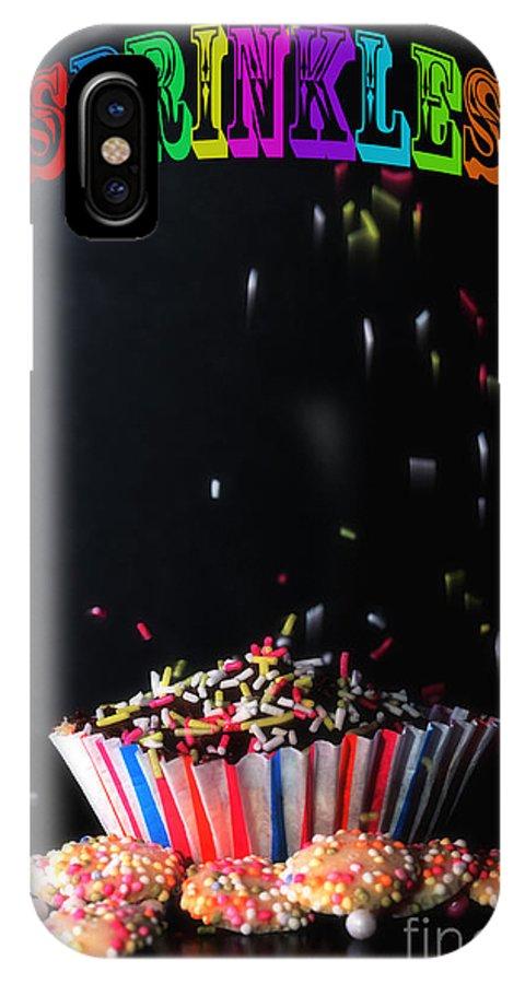 Cup IPhone X Case featuring the digital art Sprinkles by Nigel Bangert