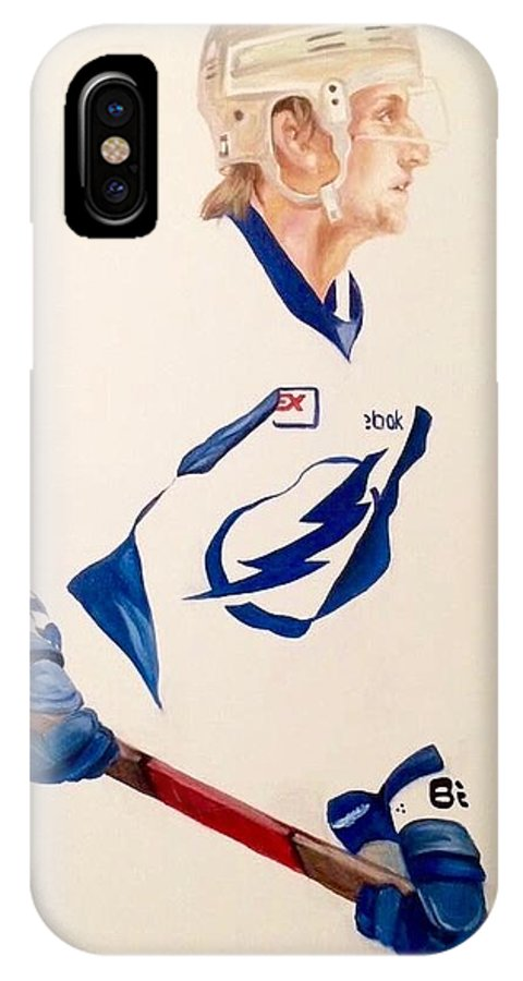 Steven Stamkos IPhone X Case featuring the painting Stamkos by Tessa Moeller