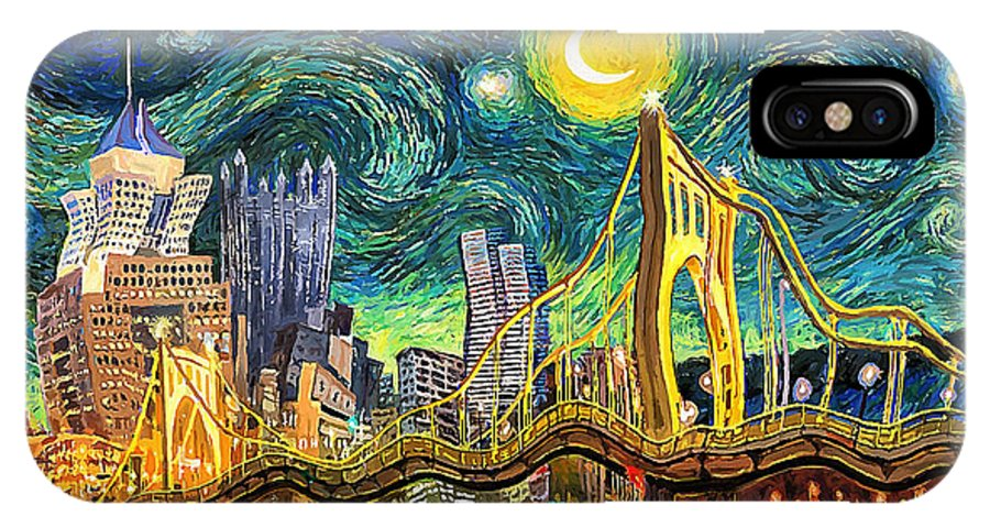 sneakers for cheap df5cc 640cf Starry Night In Pittsburgh IPhone X Case