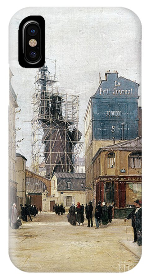 1884 IPhone X / XS Case featuring the photograph Statue Of Liberty, C1884 by Granger