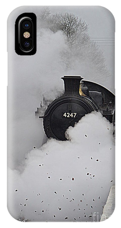 Train IPhone X Case featuring the photograph Steam Train by Andy Thompson