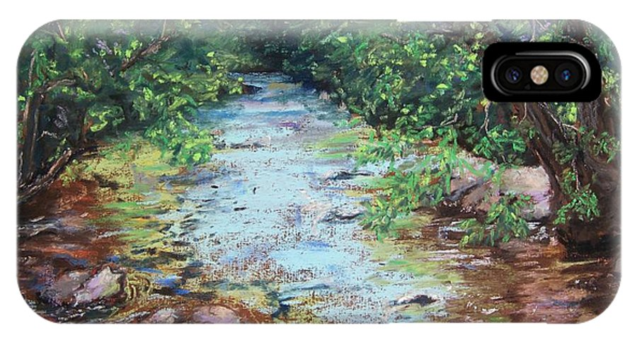 Stephens State Park IPhone X Case featuring the painting Stephens State Park by Laurie Paci